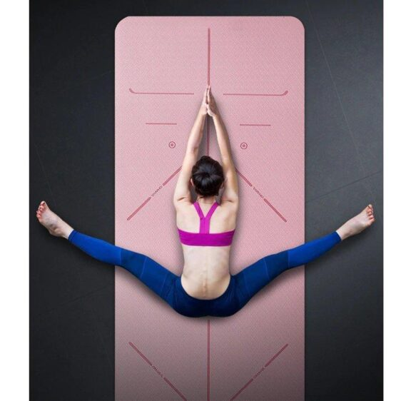 Blushing Yoga Mat with Line Position for Everyday Yoga Fitness Training - Yoga Mats - Chakra Galaxy