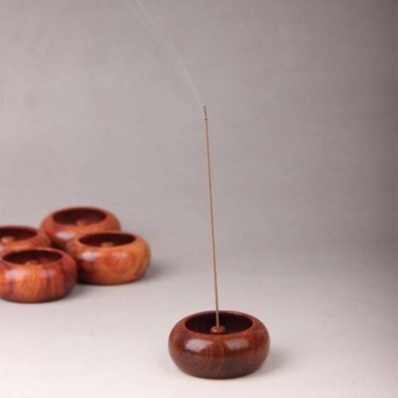 Bowl Shape Smoke Censer Rosewood Stick Incense Burner Holder - Incense & Incense Burners - Chakra Galaxy