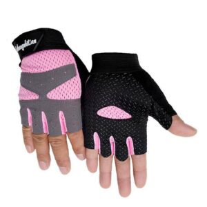 Breathable Rosy Pink Slip-Resistant Superfine Fiber Yoga Gloves - Yoga Gloves - Chakra Galaxy