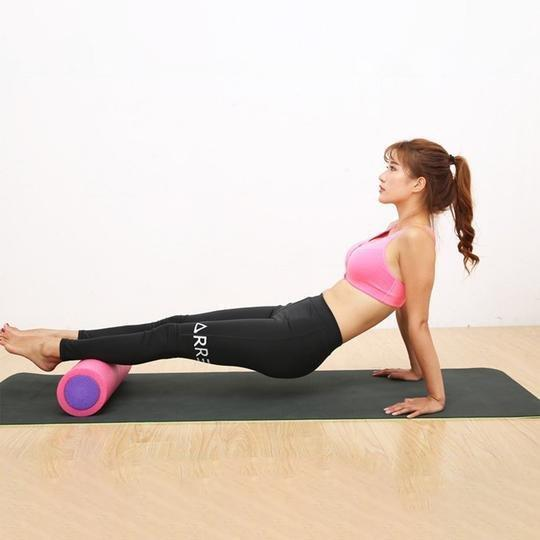 Bright Pink EPE Yoga Foam Roller Balancer For Fitness And Massage - Yoga Foam Rollers - Chakra Galaxy