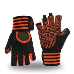 Carrot Orange Multipurpose Yoga Workout Gloves for Wrist Protection - Yoga Gloves - Chakra Galaxy