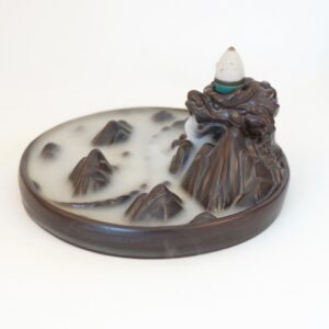 Ceramic Backflow Majestic Mountain Dragon Incense Burner Holder - Incense & Incense Burners - Chakra Galaxy