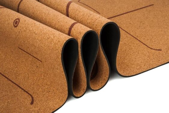 Chart-Topping Faultless Natural Cork Yoga Mat with Position Line TPE - Yoga Mats - Chakra Galaxy
