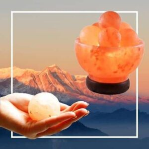 Cleansing & Purifying Pink Himalayan Salt Massage Balls Lamp - - Chakra Galaxy