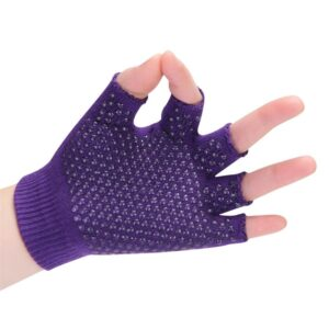 Commodious Lavender Non-Slip Yoga Wrist Support Gloves with Silica Gels - Yoga Gloves - Chakra Galaxy