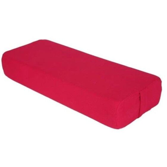 Compacted Scarlet Red Yoga Bolster Pillow for Restorative Yoga - Yoga Props - Chakra Galaxy