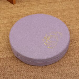Crown Chakra Round Tatami Lotus Linen Fabric Zafu Cushion Meditation Seat - Meditation Seats & Cushions - Chakra Galaxy