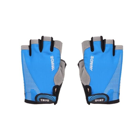Deep Sky Blue Ultralight Polyester Rubberized Yoga Gloves for Wrist Support - Yoga Gloves - Chakra Galaxy