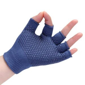 Egyptian Blue Non-Slip Best Yoga Grip Gloves with Silica Gels - Yoga Gloves - Chakra Galaxy