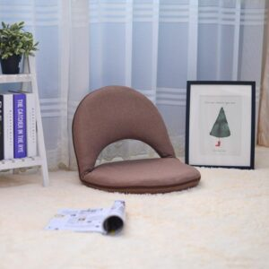 Foldable Fabric Padded Meditation Chair with Adjustable Backrest - Meditation Seats & Cushions - Chakra Galaxy