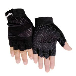 Formidable Jet Black Skid Resistant Superfine Fiber Yoga Gloves - Yoga Gloves - Chakra Galaxy