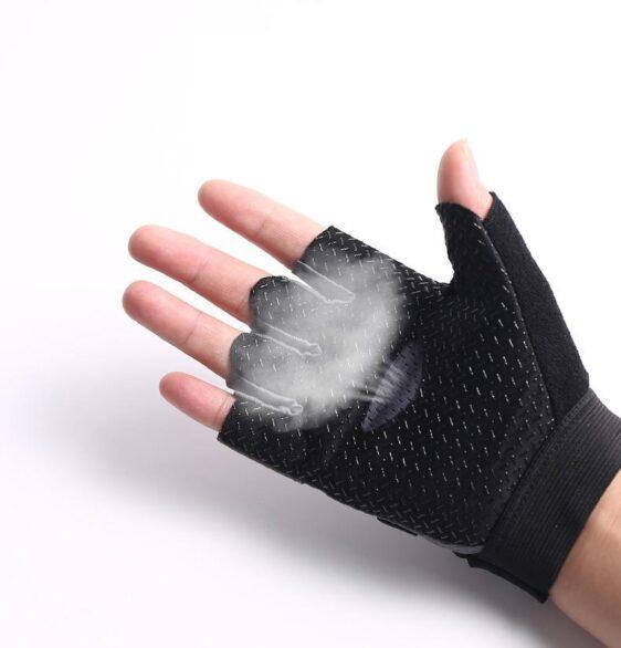 Formidable Jet Black Skid Resistant Superfine Fiber Yoga Gloves - Yoga Gloves - Chakra Galaxy