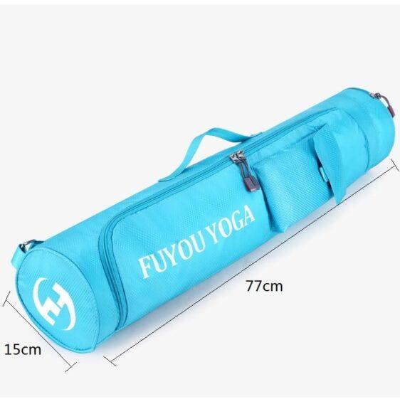 Full Zipper Waterproof Large Capacity Blue Yoga Mat Shoulder Bag - Yoga Mat Bags - Chakra Galaxy