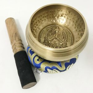 High-Quality Hand Hammered Buddha Design Pattern Tibetan Singing Bowl - Singing Bowl - Chakra Galaxy
