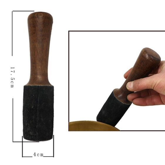 High-Quality Material Leather Hammer Stick for Tibetan Singing Bowl 17.5cm - Singing Bowl - Chakra Galaxy