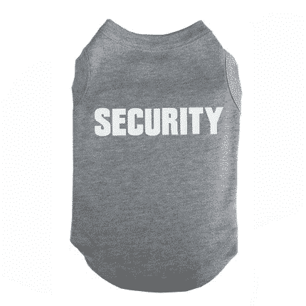 Cool Security Dog Spring Cotton Outfit Puppy Shirt