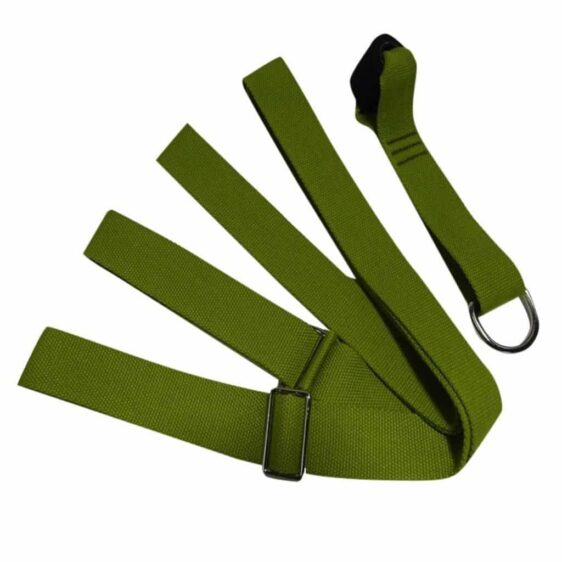 Juniper Green Yoga Flexible Nylon Belt for Stretch Deepening - Yoga Props - Chakra Galaxy