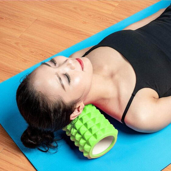 Kelly Green Resin Yoga Massage Roller for Easing Muscle Pain - Yoga Foam Rollers - Chakra Galaxy