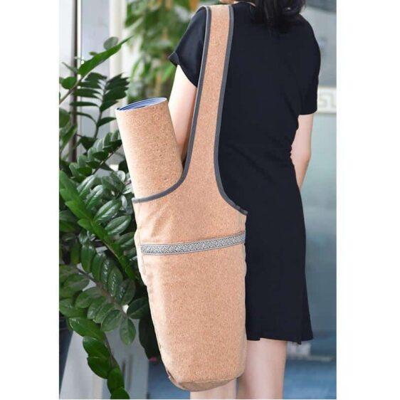 Large Capacity Casual Look Cork Yoga Mat Fitness Shoulder Bag - Yoga Mat Bags - Chakra Galaxy