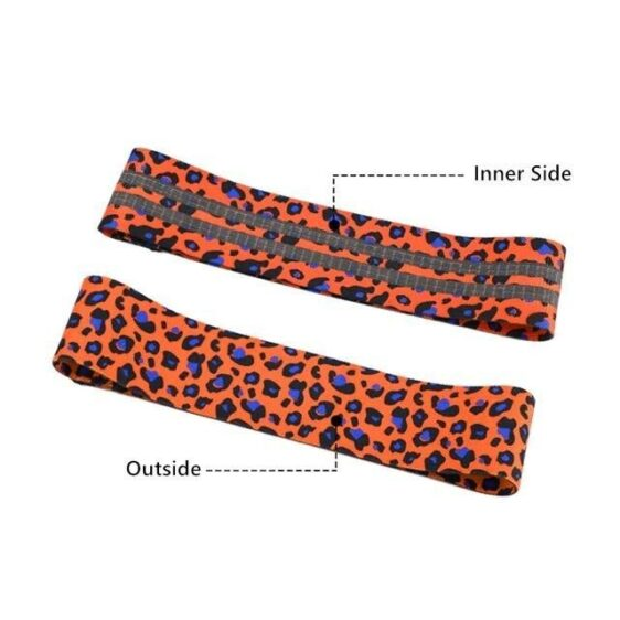 Leopard Print Resistance Band for Yoga Sessions and Fitness Equipment - Yoga Bands - Chakra Galaxy