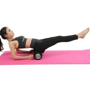 Midnight Black Resin Yoga Massage Roller for Pilates Workout - Yoga Foam Rollers - Chakra Galaxy