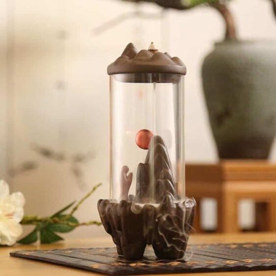 Mountain Backflow Hourglass Style Incense Burner Holder - Incense & Incense Burners - Chakra Galaxy