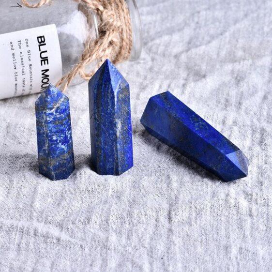 Natural Crystal Lapis Chakra Healing Crystal Wand 1 pc Home Ornament - Chakra Stones - Chakra Galaxy