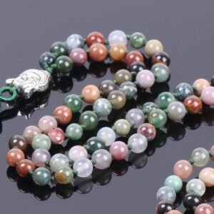 Natural Indian Agate Stone Onyx 108 Prayer Beads Chakra Necklaces 6MM - Chakra Necklace - Chakra Galaxy