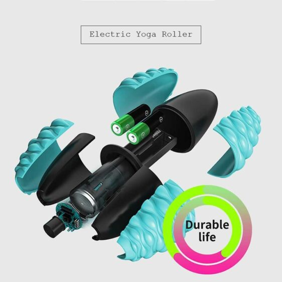 Ocean Blue Relaxing Electric Yoga Massage Roller Fatigue Relieve - Yoga Foam Rollers - Chakra Galaxy