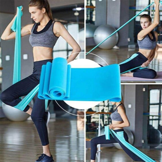 Ocean Blue Yoga Stretching Belt for Day-to-Day Resistance Body Workout - Yoga Bands - Chakra Galaxy