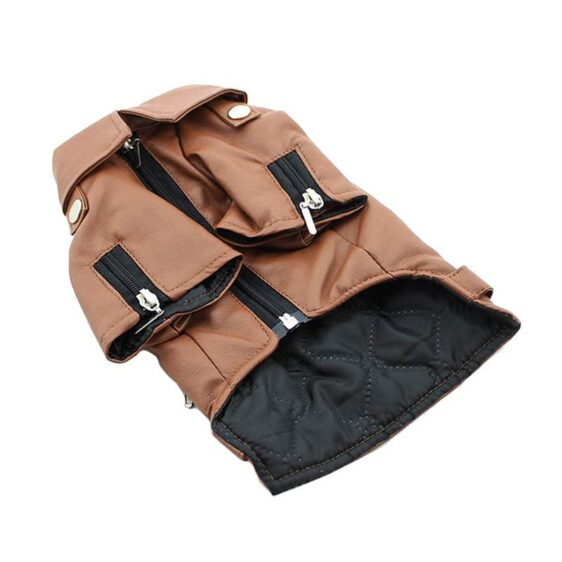 Luxury PU Leather Winter Coat For Small to Large Dogs - Woof Apparel