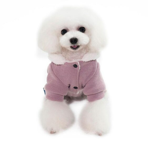 Bone Print Winter Small Dog Warm Puppy Overalls Jumpsuit - Woof Apparel