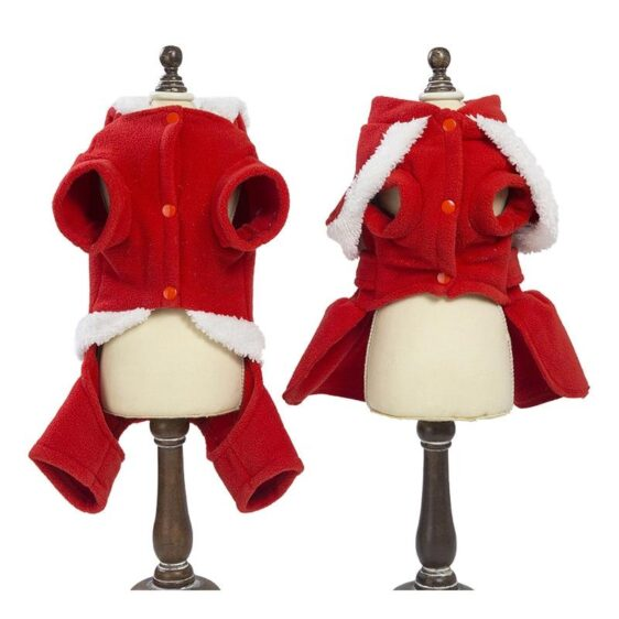 Red Santa Claus Designs Costume For Your Lovely Dogs - Woof Apparel