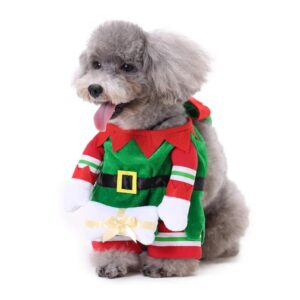 Cute Christmas Costume With Stripes Design For Your Dogs - Woof Apparel