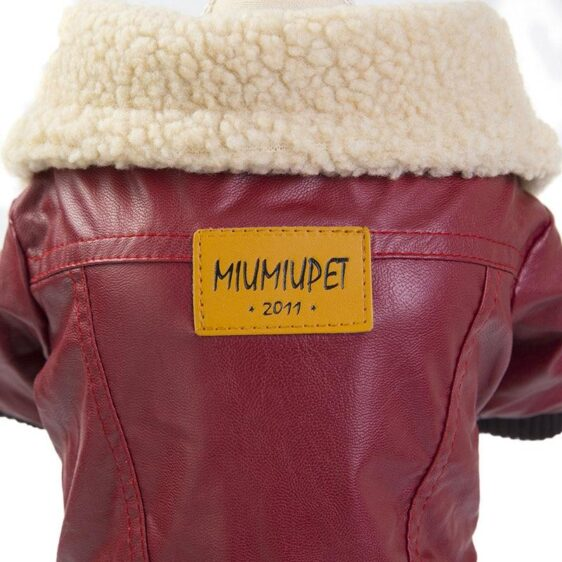 Luxury Leather Dog Winter Coat Apparel Puppy Jumpsuit - Woof Apparel