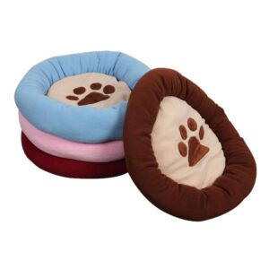 Four Color Soft Paw Print Mat Cushion Plush Dog Bed - Woof Apparel