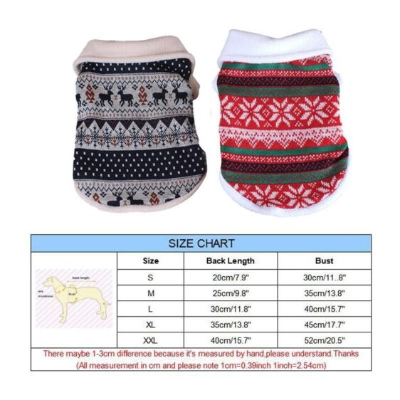Winter Deer Snow Warm Puppy Soft Knitted Vest For Small Dogs - Woof Apparel