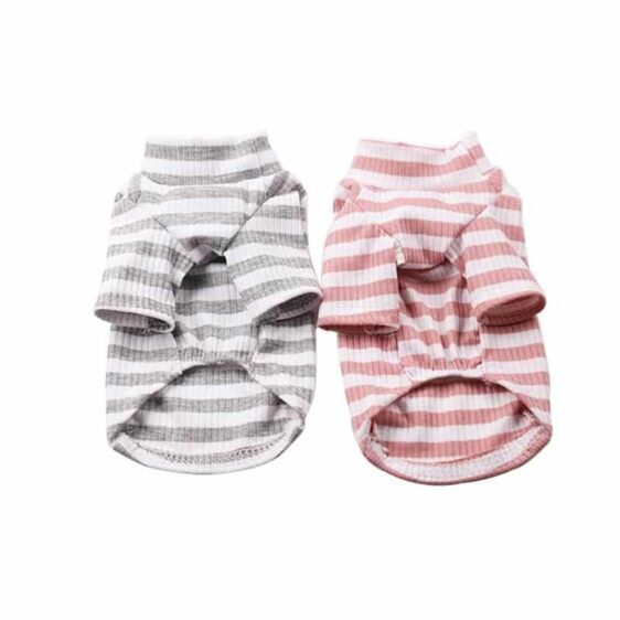 Cozy Cotton Striped Winter Sweatshirt For Small Dogs - Woof Apparel