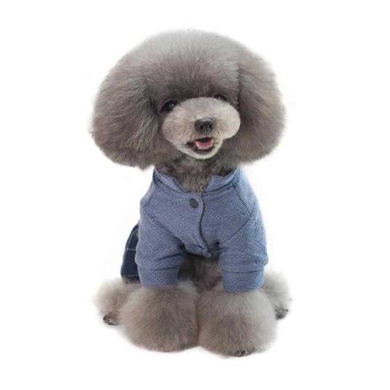 Soft Dog Jumpsuit Winter Dog Clothes Fleece Lining Romper - Woof Apparel