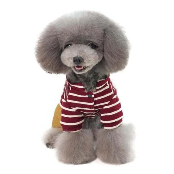 Soft Striped Winter Jumpsuit With Fleece Lining Overalls - Woof Apparel