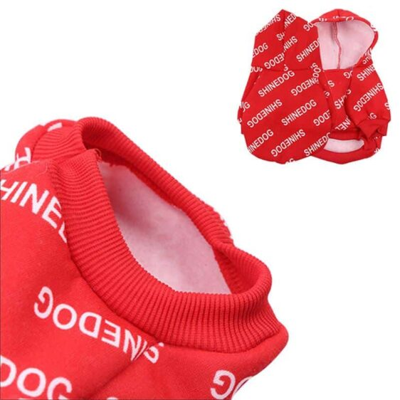 Shinedog Hip Hop Style Autumn Winter Hoodie For Small Dogs - Woof Apparel