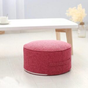 Pink High Cushion Round Strength Sponge Zafu Meditation Seat - Meditation Seats & Cushions - Chakra Galaxy