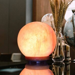 Purifying Himalayan Natural Crystal Pink Globe Salt Lamp - Himalayan Salt Lamp - Chakra Galaxy