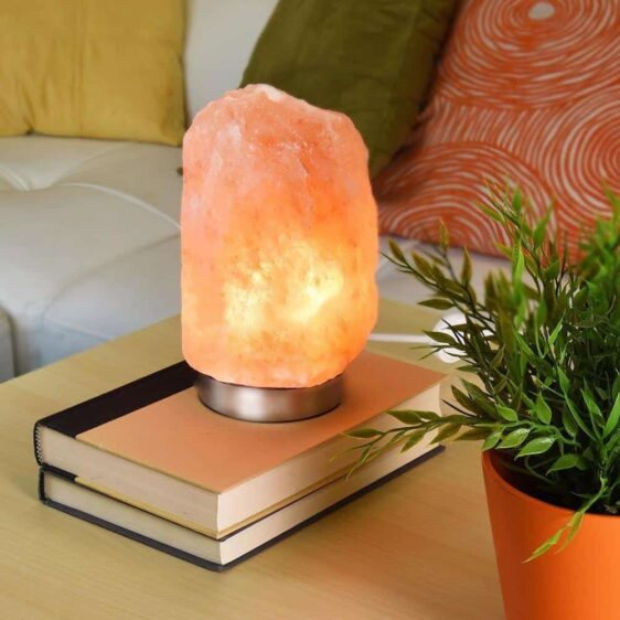 Purifying Himalayan Natural Crystal Pink Salt Medium Size Lamp - Himalayan Salt Lamp - Chakra Galaxy