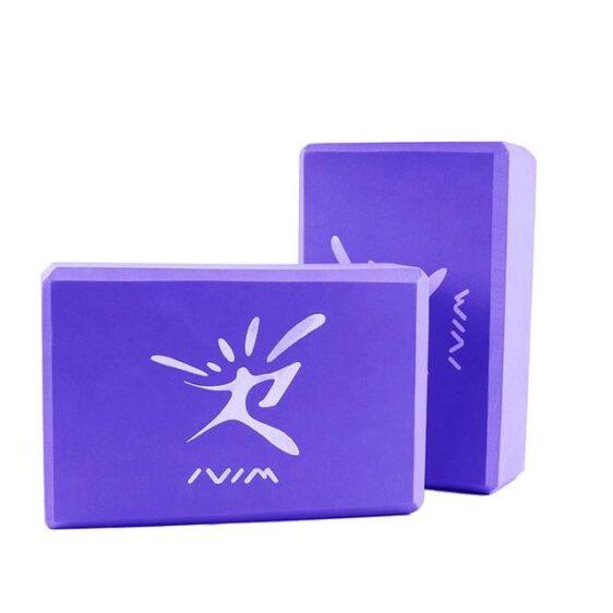 Purple Soft Yoga Workout Brick For Pilates And Restorative Yoga EVA - Yoga Blocks - Chakra Galaxy