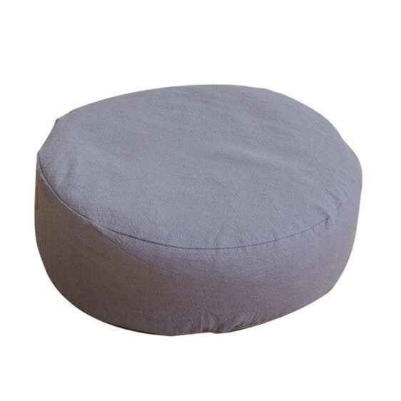 Round Zippered Buckwheat Filled Yoga Meditation Cushion Seat - Meditation Seats & Cushions - Chakra Galaxy