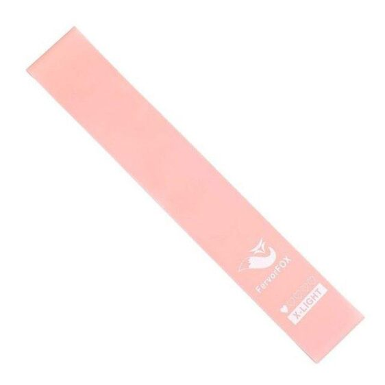 Salmon Pink Strength Fitness Band for Flexibility Yoga Workout Session - Yoga Bands - Chakra Galaxy