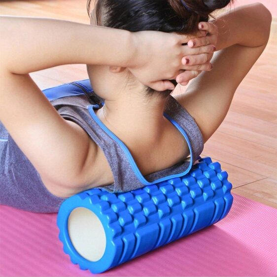 Sapphire Blue Resin Yoga Massage Roller for Pilates Workout - Yoga Foam Rollers - Chakra Galaxy