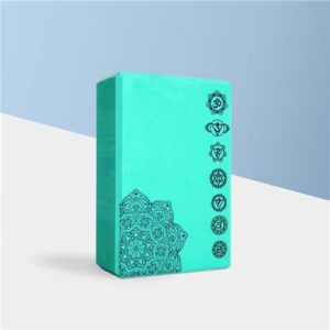 Seven Chakra Symbol Mandala EVA Green Yoga Foam Fitness Brick - Yoga Blocks - Chakra Galaxy