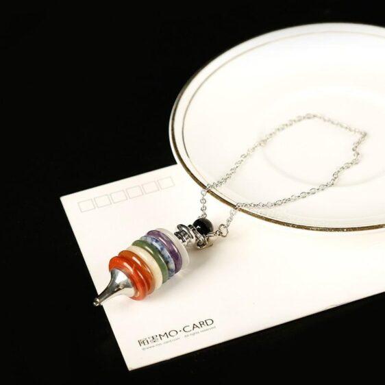 Seven Divination Stone Pendulums Chakra 1 pc Mineral Healing Crystals - Chakra Stones - Chakra Galaxy